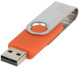 USB stick Twist in zilver/oranje