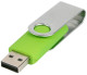 USB stick Twist in zilver/lime