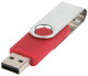 USB stick Twist in zilver/rood