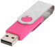 USB stick Twist in zilver/magenta
