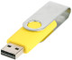 USB stick Twist in zilver/geel