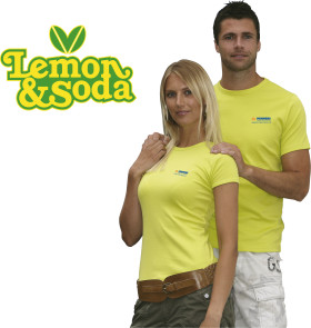 Relatiegeschenk Lemon & Soda 'Honululu' fit shirt for her