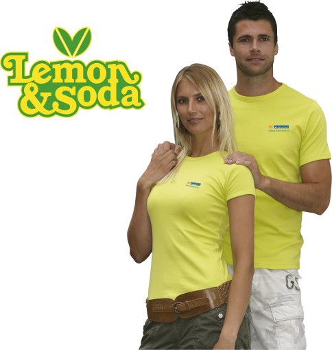 Relatiegeschenk Lemon & Soda 'Honululu' fit shirt for her bedrukken