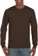 Gildan Ultra Cotton T-shirt Longsleeve Unisex - Dark chocolate
