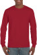 Gildan Ultra Cotton T-shirt Longsleeve Unisex - Kardinaalrood