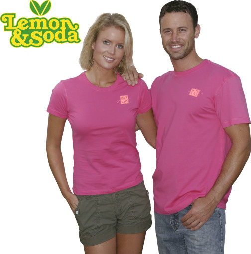 Relatiegeschenk Lemon & Soda iTee t-shirt for him bedrukken