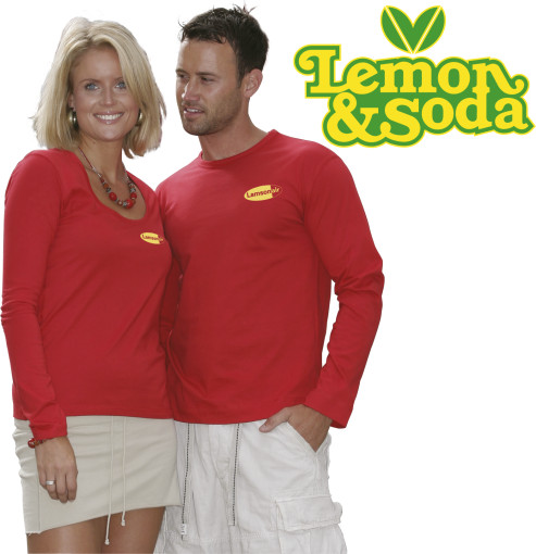 Relatiegeschenk Lemon & Soda iTee t-shirt L/S for him bedrukken