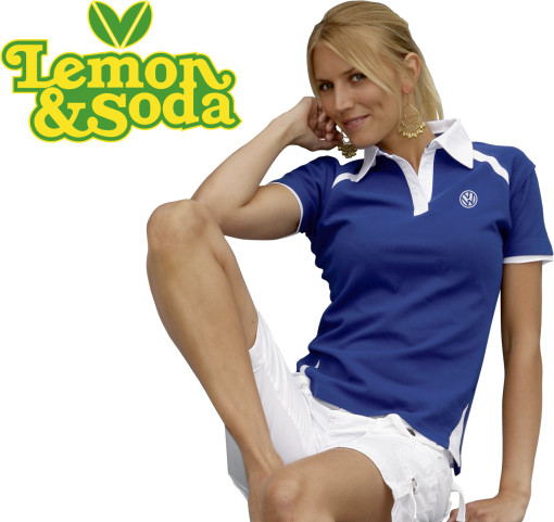 Relatiegeschenk Lemon & Soda polo Sausalito for her bedrukken