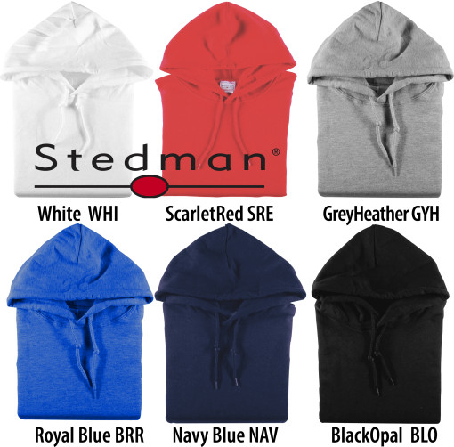 Relatiegeschenk Stedman Hooded Pullover for him bedrukken
