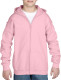 Gildan Full Zip Hooded Vest Kids - Light pink
