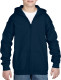 Gildan Full Zip Hooded Vest Kids - Navy