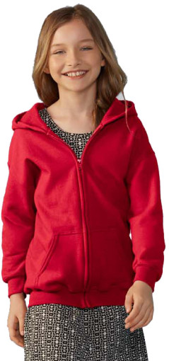 Relatiegeschenk Gildan Full Zip Hooded Vest Kids
