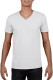 Gildan Soft Style V-neck T-shirt Heren - Wit