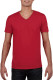 Gildan Soft Style V-neck T-shirt Heren - Rood