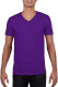 Gildan Soft Style V-neck T-shirt Heren - Paars