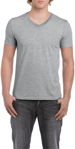 Relatiegeschenk Gildan Soft Style V-neck T-shirt for him bedrukken