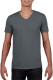 Gildan Soft Style V-neck T-shirt Heren - Charcoal