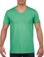 Gildan Soft Style V-neck T-shirt Heren - Heather irish green