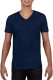 Gildan Soft Style V-neck T-shirt Heren - Navy