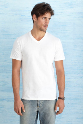 Relatiegeschenk Gildan Soft Style V-neck T-shirt for him