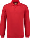 Lemon & Soda Collar Polo Longsleeve Heren - Rood