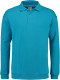 Lemon & Soda Collar Polo Longsleeve Heren - Turquoise