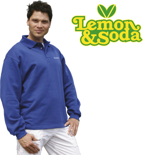 Relatiegeschenk Lemon & Soda Polo Collar Open Hem bedrukken