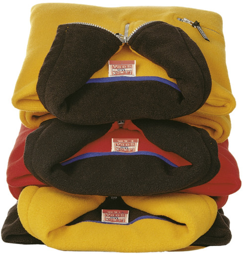 Relatiegeschenk Lemon & Soda polar fleece comfort sweater bedrukken