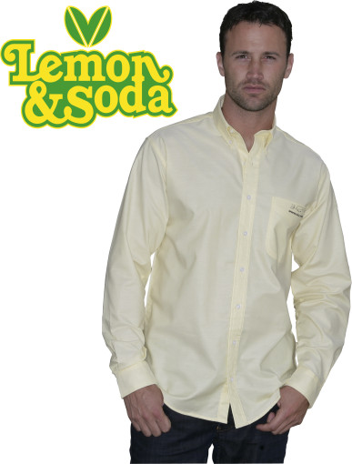 Relatiegeschenk Lemon & Soda Oxford shirt for him bedrukken