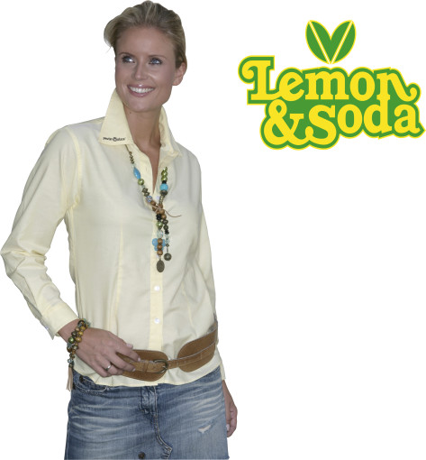 Relatiegeschenk Lemon & Soda Oxford shirt for her bedrukken