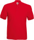 Fruit of the Loom 65/35 Pique Polo Heren - Rood
