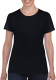 Gildan Heavyweight T-shirt Dames - Zwart
