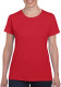 Gildan Heavyweight T-shirt Dames - Rood