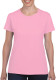 Gildan Heavyweight T-shirt Dames - Light pink