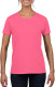 Gildan Heavyweight T-shirt Dames - Fluo roze