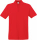 Fruit of the Loom Premium Polo Heren - Rood