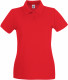 Fruit of the Loom Premium Polo Dames - Rood