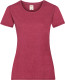 Fruit of the Loom Valueweight T-shirt Dames - Gemeleerd rood