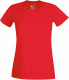 Fruit of the Loom Performance t-shirt Dames - Rood