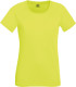Fruit of the Loom Performance t-shirt Dames - Fluo geel