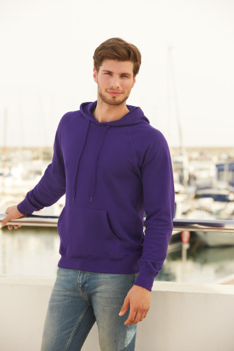 Relatiegeschenk Fruit of the Loom Lightweight Hoodie Heren bedrukken