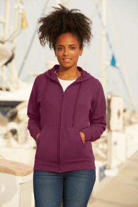 Relatiegeschenk Fruit of the Loom Lightweight Hooded Vest Dames