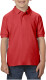 Gildan Double Pique Polo Kids - Rood