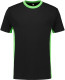Lemon & Soda iTee Workwear T-shirt - Zwart/lime