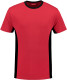 Lemon & Soda iTee Workwear T-shirt - Rood/zwart