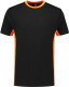 Lemon & Soda iTee Workwear T-shirt - Zwart/oranje