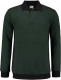 Lemon & Soda Workwear Polo Longsleeve - Forest green/zwart