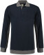Lemon & Soda Workwear Polo Longsleeve - Dark navy/pearl grey