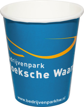 Relatiegeschenk Papieren drinkbeker Full Colour 180 ml