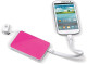 Powerbank 3-in-1 [3000 mAh] - Wit/roze